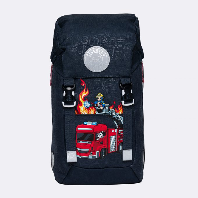Classic mini, kindergarten backpack, firetruck