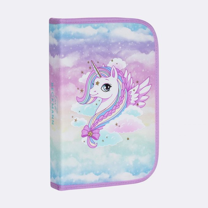 Single section pencil case, Unicorn
