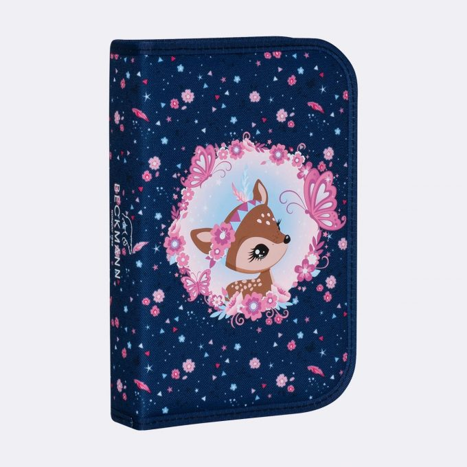 Single section pencil case, Forest Deer Blue