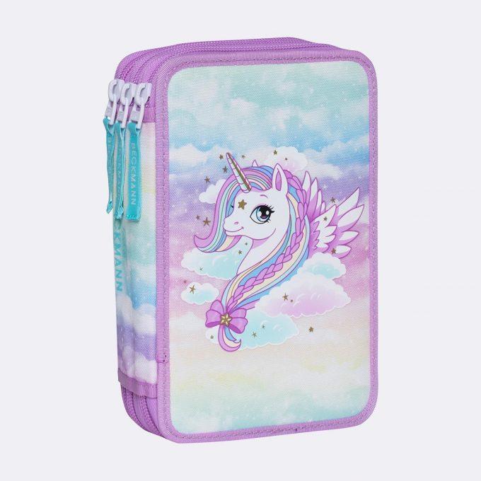 Three section pencil case, Unicorn