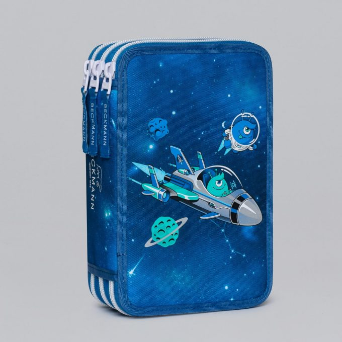 Three section pencil case, Galaxy