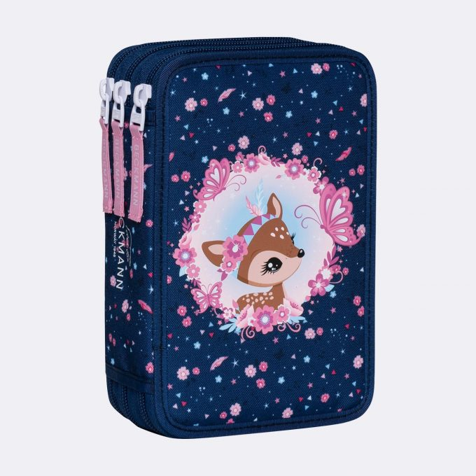 Three section pencil case, Forest Deer