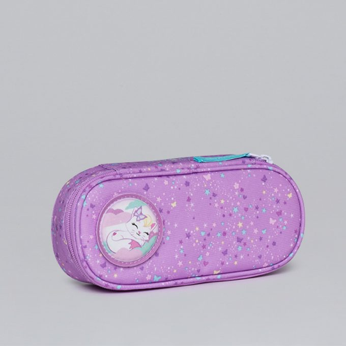 Oval pencil case, for 1-2nd grade, Magic Alva