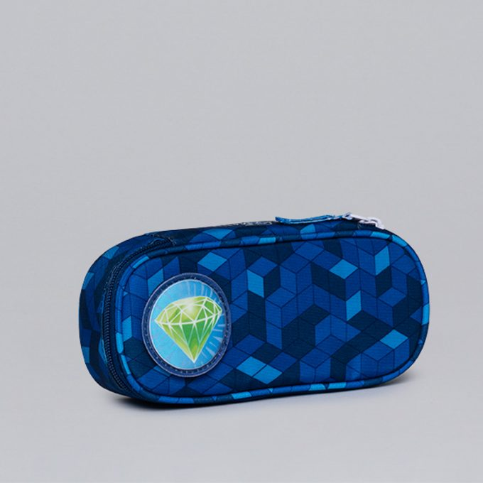 Oval pencil case, for 1-2nd grade, Diamond Hunter
