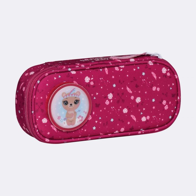 Oval pencil case, for 1-2nd grade, Forest Deer