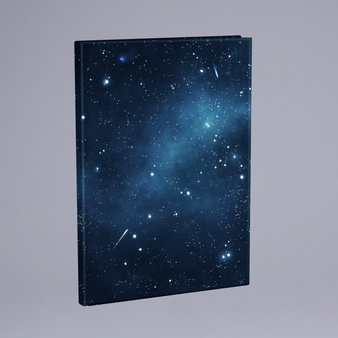 Elasticated book cover, Galaxy