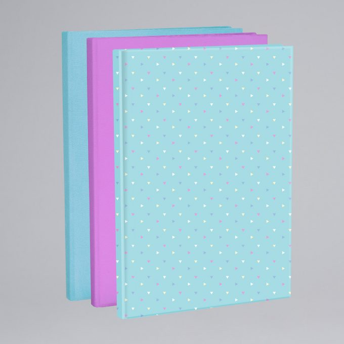 Elasticated book cover 3 pack, Mint Lollipop, Purple, Mint