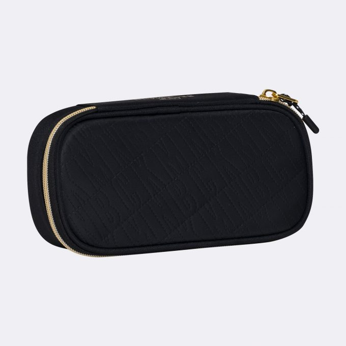 Sport Junior oval pencil case, Black Gold